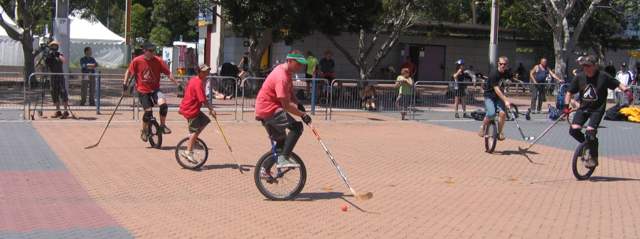 Sydney Unicycle Hockey at Spring Cycle